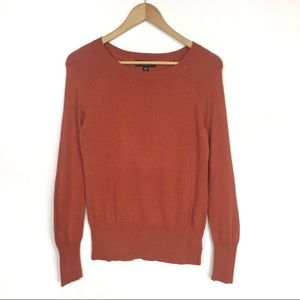 🦄 BOGO MOSSIMO orange crew neck sweater 0109